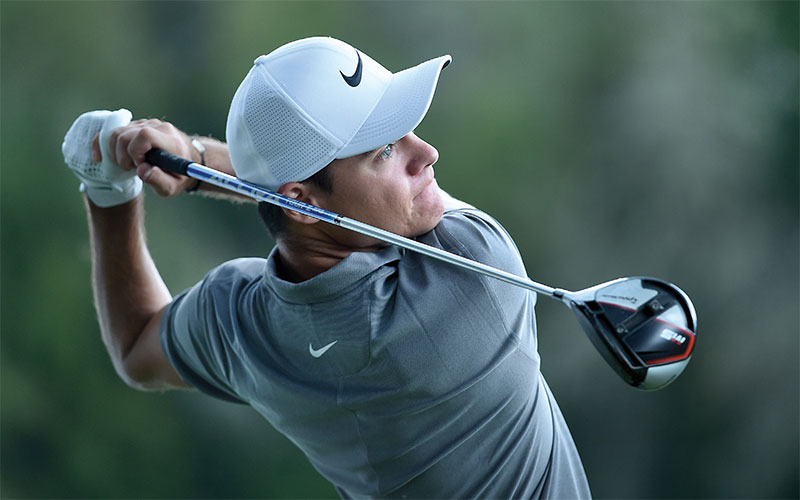 Kristoffer Ventura hits his tee shot on the ninth hole during the third round of the WinCo Foods Portland Open presented by KraftHeinz at Pumpkin Ridge Ridge Golf Club on August 10, 2019 in Portland, Oregon. (Getty Images)