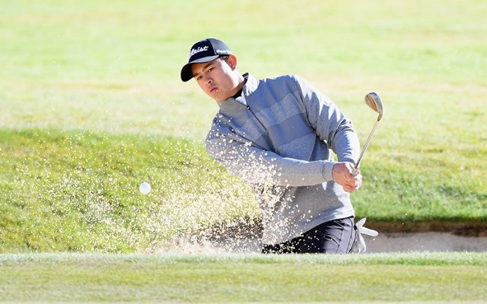 Denzel Ieremia in the 2019 New Zealand Open (Photo by Kai Schwoerer/Getty Images)