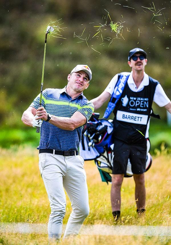Beauden Barrett at 2020 New Zealand Open (Andrew Cornaga / www.photosport.nz)