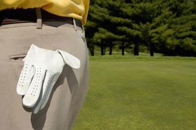 golf gloves in hip pocket